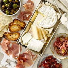 We love this fun Charcuterie and cheese board, where guests can just pick what they want. #appetizers #Thanksgiving | Health.com
