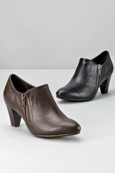 39e4f871225 Houndstooth heels. See more. Side Zip Bootie Shoe