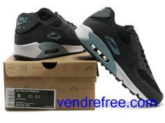 b4258c9a935952 Vendre Pas Cher Homme Chaussures Nike Air Max 90 (couleur:blanc,noir) en  ligne en France.