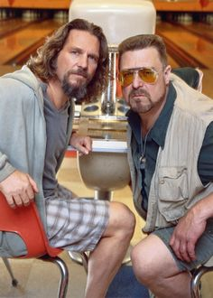 Jeff Bridges & John Goodman  in The Big Lebowski, 1998