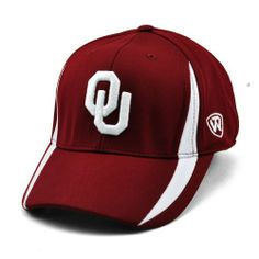 3fcb41dcb Oklahoma Sooners Fitted Hat Oklahoma Sooners, Fitted Caps, Top Of The  World, Fan