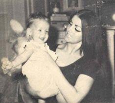 Priscilla Beaulieau Presley and Lisa Marie Presley