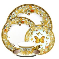 Versace Butterfly Garden 5pc Place Setting