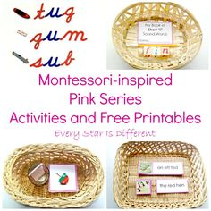 Montessori-inspired Pink Series Activities and Free Printables from Every Star Is Different