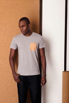 Tshirt Full Pocket gris
