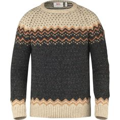 Fjallraven Ovik Folk Knit Sweater ($150) ❤ liked on Polyvore featuring men's fashion, men's clothing, men's sweaters, mens knit sweater, mens nordic sweater and mens sweaters