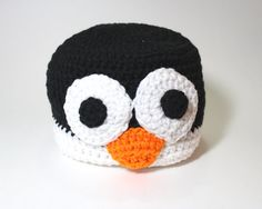 Penguin Beanie Animal Crochet Hat Winter Beanie by MsAmandaJayne, $35.00