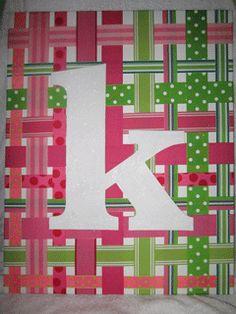 Monogram ribbon canvas