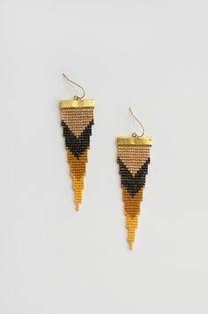 Unearthed Loom Beaded Earrings ♥