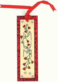 Finished Mother's Day Bookmark