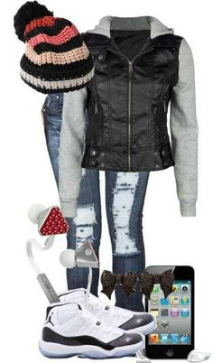 Cute winter outfit#swag LOL i have this EXACT same jacket