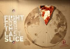 These ads from Pizza & Love. Created by Contrapunto, Barcelona, the art direction really is stunning. For those of you who don't know, Pizza & Love are an actual Pizza place who are very environmentally-conscious. Restaurant Advertising, Restaurant Marketing, Pizza Restaurant, Restaurant Branding, Stück Pizza, Pizza Art, Pizza Bowl, Comida Pizza, Pizza Branding