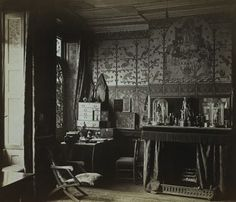 lostpastremembered: William Burges, Victorian Gothic, Jimmy Page and Sauce Romaine- interior of Tower House when it was owned by the architect- William Burges.  This was his office.