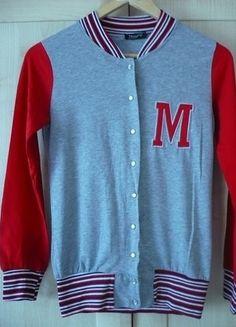 Kup mój przedmiot na #vintedpl http://www.vinted.pl/damska-odziez/bluzy/13941029-cienka-czerwona-bejsbolowka-damska-s