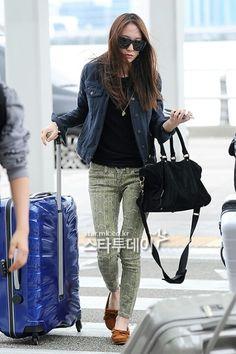 #Krystal Jung #Kpop Airport Fashion #fx