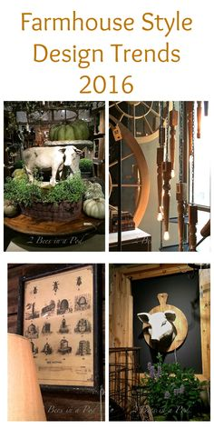 Farmhouse Design Trends 2016 is going strong. Weathered wood, vintage and rustic charm - 2 Bees in a Pod