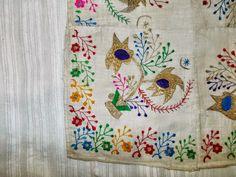 antika el işlemeleri, antika çevre işlemeleri, osmanlı buyuk boyutlu tulbent çevre, çevre,