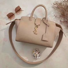 #YSL Summer 2017#baby downtown cabas bag apricot