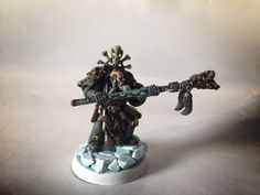 Rune priest conversion - + SPACE WOLVES + - The Bolter and Chainsword Warhammer 40k Space Wolves, Bolter And Chainsword, Priest, Runes, Wolf, Miniatures, Statue, Inspiration, Biblical Inspiration