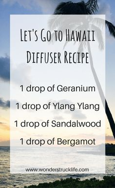 7107c5c290b Let s Go to Hawaii Essential Oil Summer Diffuser Recipe - 1 drop of  Geranium   1