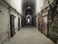 """Eastern State Penitentiary c. 1829 - Charles Dickens, after visiting the infamous prison in 1842, wrote: """"I am persuaded that those who designed this system...do not know what it is they are doing...I hold the slow and daily tampering with the mysteries of the brain to be immeasurably worse than any torture of the body."""""""