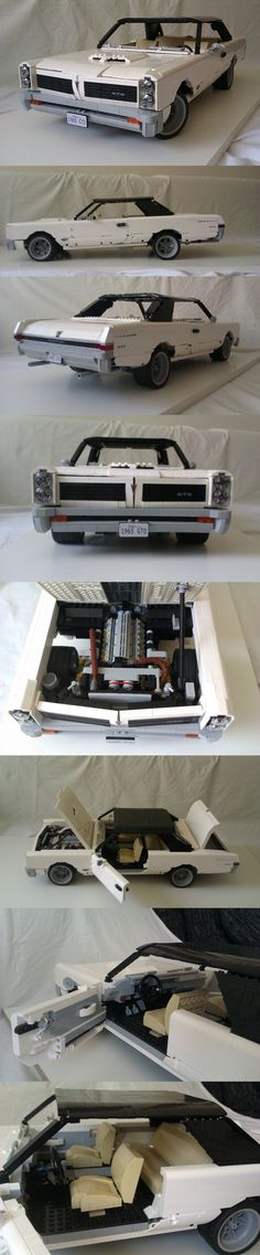 10 Cool Lego Machine Constructions That You Wish You Built As A Kid Crazy Simple Lego Machine Designs That Work // [theendearingdesig…] - Practical Lego Cars Lego Design, Lego Technic, 1965 Pontiac Gto, 1957 Chevrolet, Chevrolet Chevelle, Pontiac Firebird, Legos, Lego Poster, Technique Lego