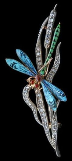 An Art Nouveau Dragonfly Brooch, by Benjamin Bardon & Fils, French, circa…