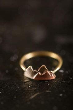 Mountain Stacking Ring. i want this to remind me of my beautiful mountains back home.