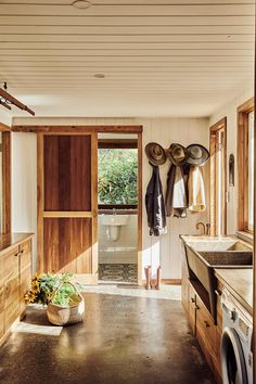 A sustainable home built with recycled timber in Tintenbar, NSW Country Laundry Rooms, Mission Style Homes, Colorful Apartment, Timber House, Bedroom With Ensuite, Australian Homes, Big Houses, Dream Houses, The Ranch