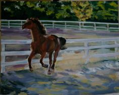 Custom Horse Portrait in Oil on Canvas 20 x 16 by lmthorntonarts, $400.00