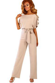Lace Up Plus Size Formal Jumpsuits For Wedding Elegant Summer Red Plus Size Loose Women Bandage Long Overalls High Waist Plus Size Formal Jumpsuit, Plus Size Romper, Elegant Jumpsuit, Jumpsuit Dressy, Pink Jumpsuit, Long Overalls, Overalls Women, Vetement Fashion, Long Jumpsuits