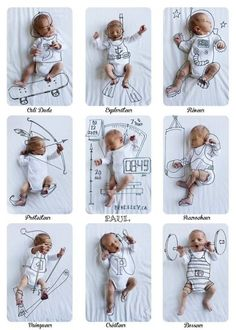 Creativity has no age … that's how to make original photos for the arrival of baby - Kids and Parenting Album Baby, Baby Monat Für Monat, Monthly Baby Photos, Foto Baby, Newborn Baby Photography, Baby Birth, Newborn Pictures, Funny Baby Pictures, Baby Milestones