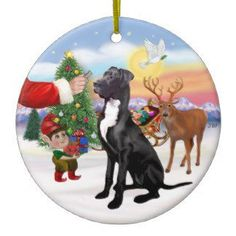 Great Dane Christmas Ornament Treat From Santa