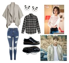 """""""Bo Mi's casual wear"""" by pantsulord on Polyvore featuring Topshop, Yves Saint Laurent, Burberry and Accessorize"""