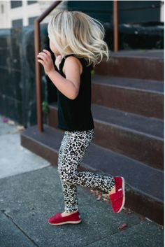 How she wears her Tiny TOMS. Photo via Style Smaller.