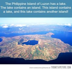 Islandception. Taal Lake on the Island of Luzon in the Philippines.