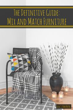 Don't be afraid to mix and match your apartment furniture. We have tips for doing it right!