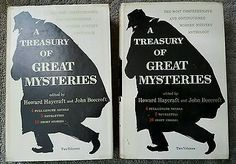 A Treasury Of Great Mysteries Howard Haycraft  2vols 1957 1st DJ