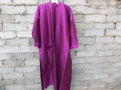 Silk Robe Fushia Violet fits Medium Oversized  by RetroHappiness, $35.00