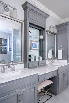 Bathroom designs by Decorating Den Interiors. Want this look? Call The Landry Team to set up your FREE consultation 817-472-0067. Visit our website #Bathroom #Design #Home
