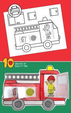 36 Ideas fire truck art fun for 2019 Fire Safety Crafts, Fire Crafts, Toddler Crafts, Toddler Activities, Preschool Activities, Fire Truck Activities, Fire Truck Craft, Cool Truck Accessories, Truck Nursery