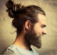 - a man bun. There are a lot of variations you can have in a man bun. Some of the man bun hairstyles are mentioned below. Make sure you have a look at beautiful examples of man bun hairstyles at the end. Cool Haircuts, Haircuts For Men, Modern Haircuts, Long Hairstyles For Men, Layered Hairstyles, Hairstyles Haircuts, Hair And Beard Styles, Curly Hair Styles, Man Bun Styles