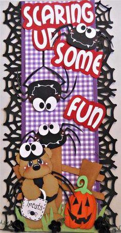 ELITE4U Scrappinwmn Premade Scrapbook Page Album Halloween Border Paper Piecing | eBay#ht_1867wt_1399#ht_1867wt_1399#ht_1867wt_1399
