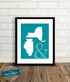 Personalized Engagement Gift  - 8x10 / Bridal Shower Presents- Tell Your Story - State Map - First Anniversary Gift Paper - Newlywed gift on Etsy, $32.00