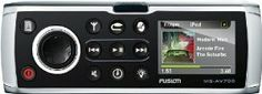 "FUSION MS-AV700 Marine DVD/CD/AM/FM/Sirius/VHF/WX/USB/AUX Stereo by Fusion. $525.89. Marine DVD/CD/AM/FM/Sirius/VHF & WX/iPhone/iPod/Aux/USB StereoMS-AV700Features:70W x 4 Output with inbuilt Class-D amplifierDaylight viewable 2.7"" QVGA colour TFT LCD screen 320 x 240Rugged aluminium die cast chassisPowerful ARM 9 350 MHz processorIP-x5 water resistance standard front and rear,Ethernet ConnectivityNMEA 2000 ConnectivityFUSION-link capable4 Zone Support - Zones are..."