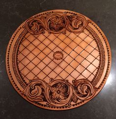A beautiful custom hand-tooled leather rope can cover made by K. McClintic Custom Leather. Holy smokes!