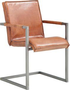 Sturdy is een Italiaanse designstoel in leer; een stoere mix van oud en modern. De retro uitstraling door het cognac kleurige leer in combinatie met het stoere metalen sledemodel frame, zet een prettige toon in je interieur. Het leer is met de hand ingewassen, dat zorgt voor de stoere vintage-look. Het leer krijgt extra charme wanneer je de stoel langer gebruikt. De hoogwaardige vulling in zit- en rugdeel en het licht verende frame met de met leer beklede arm zorgen voor een geweldig…