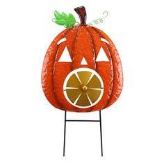 Halloween Pumpkin Rotating Garden Stake