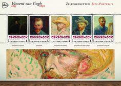 Schilderijen Vincent van Gogh -  Zelfportretten http://collectclub.postnl.nl/spec-map-van-gogh-nederland-int.html