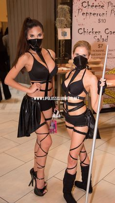 Sexy Ninja Costume Rave Wear Theme Wear Dance by LipglossWear